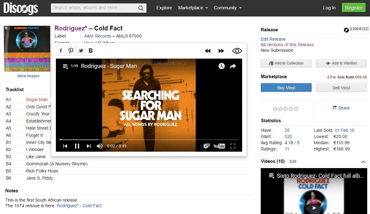 Лучшие онлайн-инструменты для коллекционеров музыки Searcher for Discogs